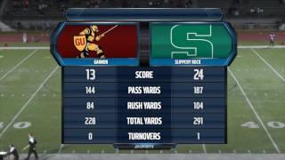 SRU Football vs. Gannon Highlights