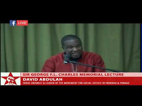 MSJ political leader David Abdulah gives the  Sir George F L  Charles Memorial Lecture