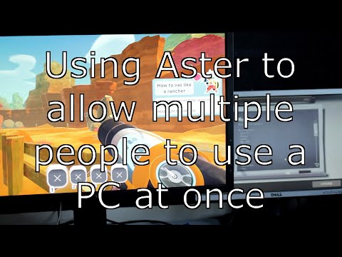 Using Aster multiseat to allow two users on a computer at one time