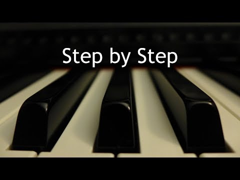 Step by Step - piano instrumental cover with lyrics