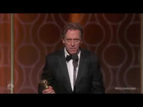 Thumbnail: Hugh Laurie rips Trump at the Golden Globes