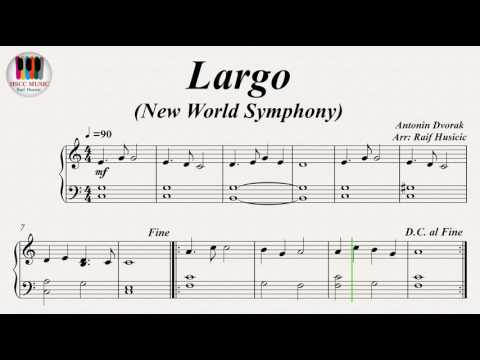 Largo (New World Symphony) - Antonin Dvorak, Piano