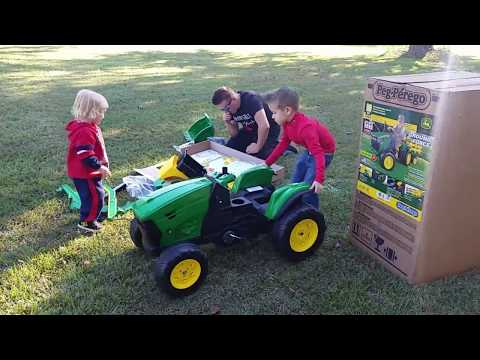 Peg Perego John Deere Front Loader Ride-On How to Put it Together Tutorial ZIMALETA Unboxing Review