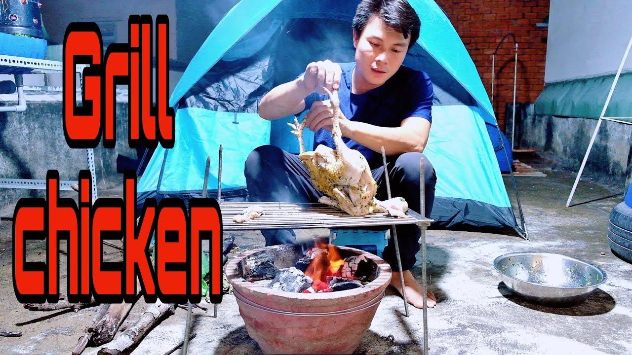 14 NGÀY CÁCH LY – Ngày Thứ 13 : Làm gà nướng muối ớt lá chanh | Grilled chicken | Dương Khương Duy