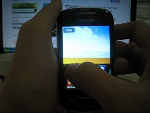 Tampilan Antar-Muka Samsung Corby II