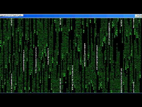The Matrix Code Batch File