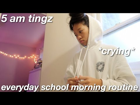 my REAL everyday school morning routine