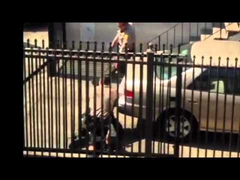 (WARNING GRAPHIC POLICE VIOLENCE) Los Angeles County Sheriff's Deputies Murder Suspect