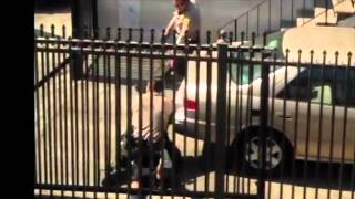 (WARNING GRAPHIC POLICE VIOLENCE) Los Angeles County Sheriff