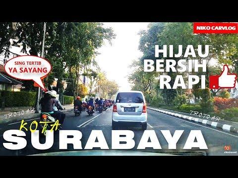 Kota SURABAYA - Menikmati Indahnya Kota di Pagi hari menuju TUGU PAHLAWAN