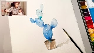 [LVL1] Easy Simple Cactus Painting for Beginners
