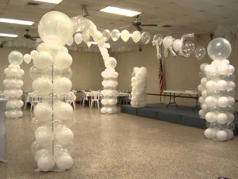 ALL WHITE BALLOON DECOR YouTube