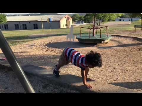 Kindergarten Workout video, at Nimitz Elementary School
