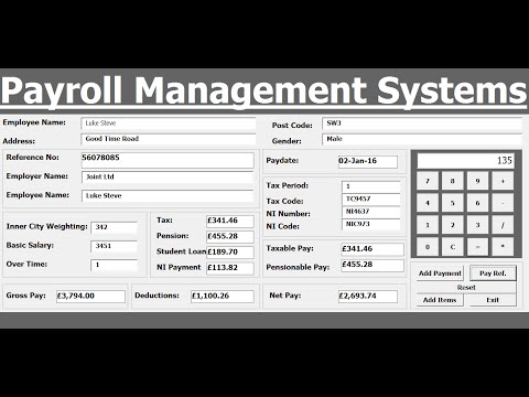 How to Create Payroll Management Systems in Excel using VBA