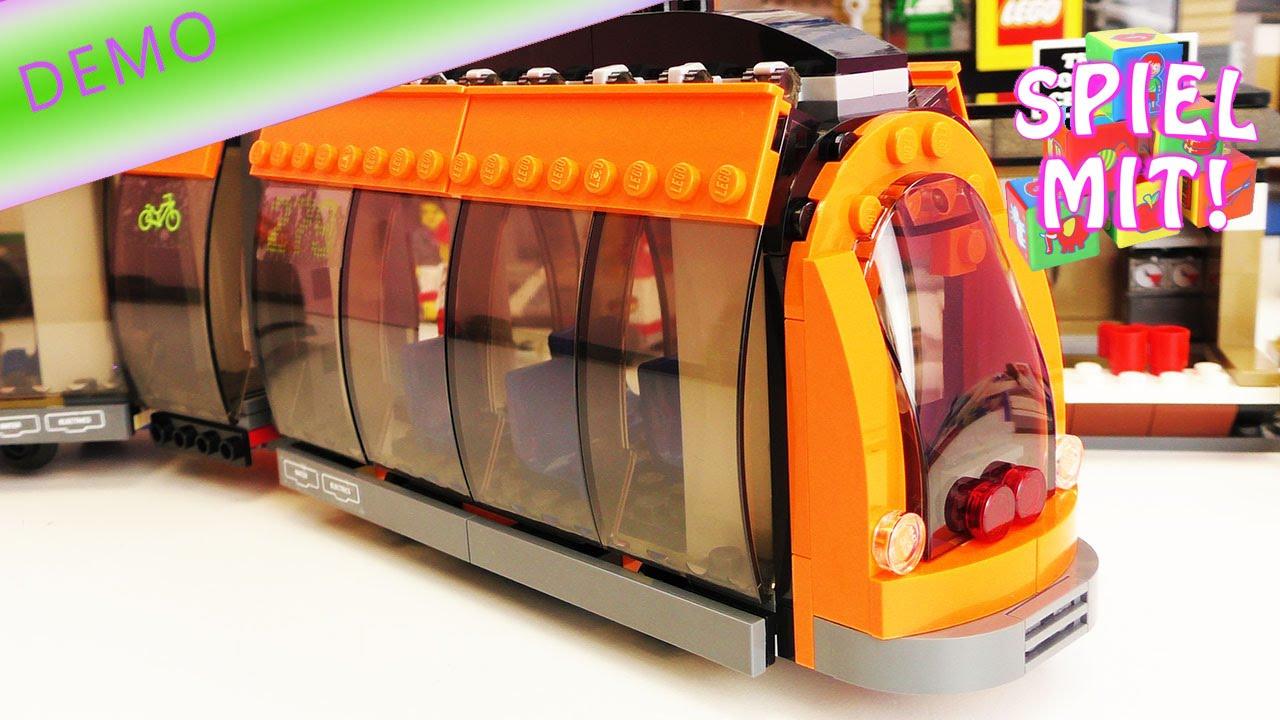 Lego Strassenbahn Bauen Und Demo Glas Transparente Wagons Mit