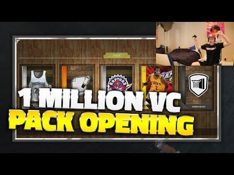 NBA 2K16 1 MILLION VC PACK OPENING LIVE!