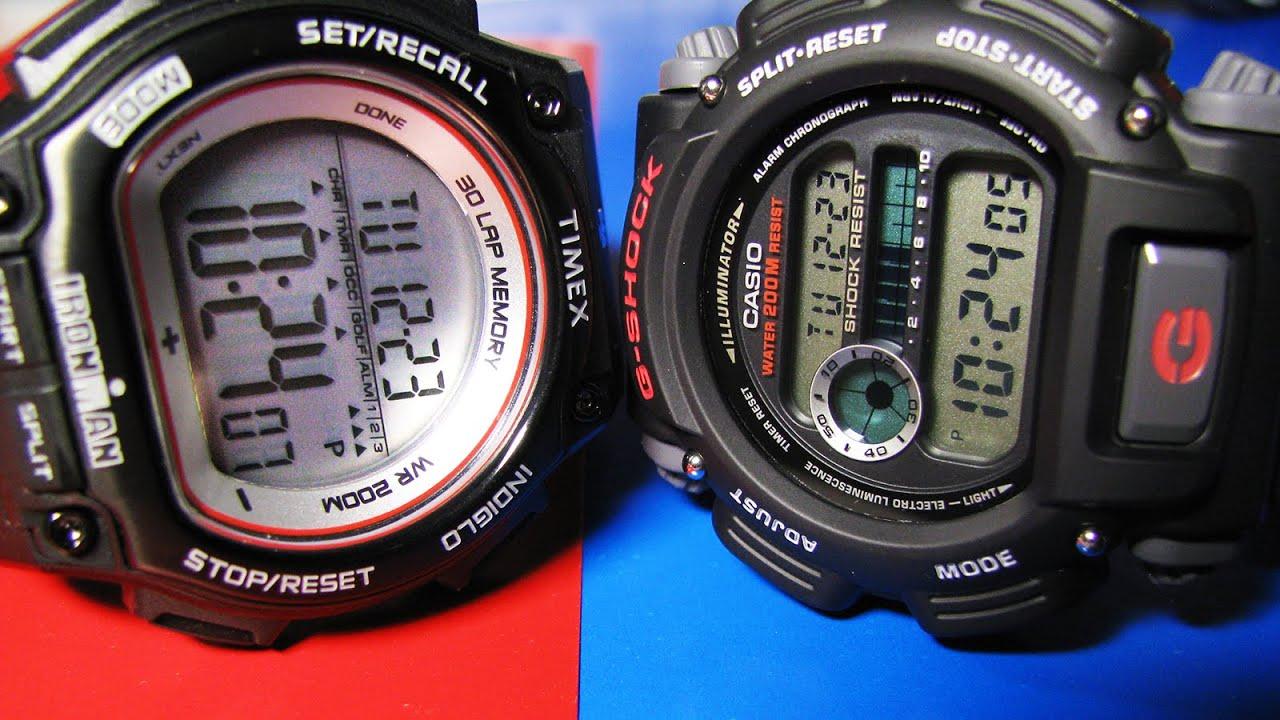 timex ironman shock t5k584 vs casio g shock dw 9052