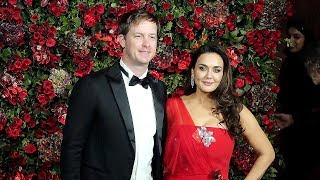 Preity Zinta With Her Husband Gene Goodenough At Ranveer-Deepika's wedding reception