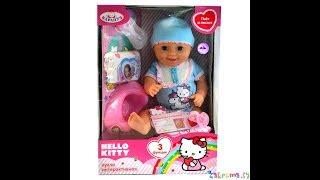 Пупс КАРАПУЗ Helloy Kitty с 3-ми функциями 40см Пьет и писает Unpacking doll Hello Kitty