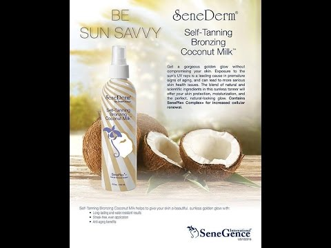 SeneGence Self Tanning Bronzing Coconut Milk product knowledge