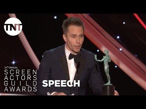 Sam Rockwell: Acceptance Speech | 24th Annual SAG Awards | TNT