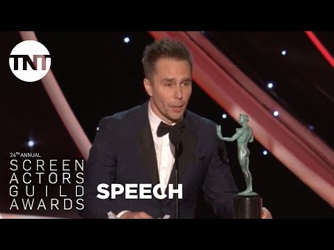 Sam Rockwell: Acceptance Speech  24th Annual SAG Awards  TNT