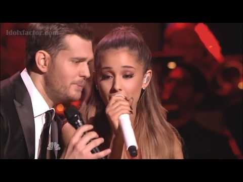 Michael Buble & Ariana Grande 'Santa Claus Is Coming To Town'