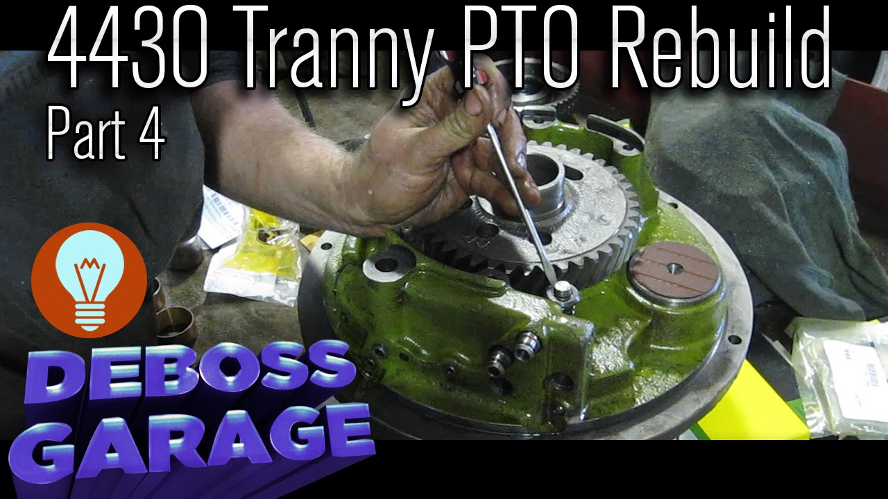 medium resolution of john deere transmission pto rebuild 4430 part 4