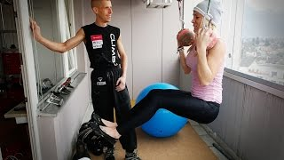 Fitness Model Meets Climber (eng sub)