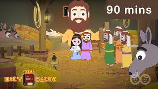 Bible Stories For Kids | 38 New Testament Stories | 90 mins Gospel Compilation