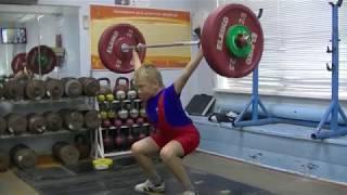 Мирсков Женя, 11 лет, вес кат 41 Рывок от бедра+Ж шв  р хв  17 кг