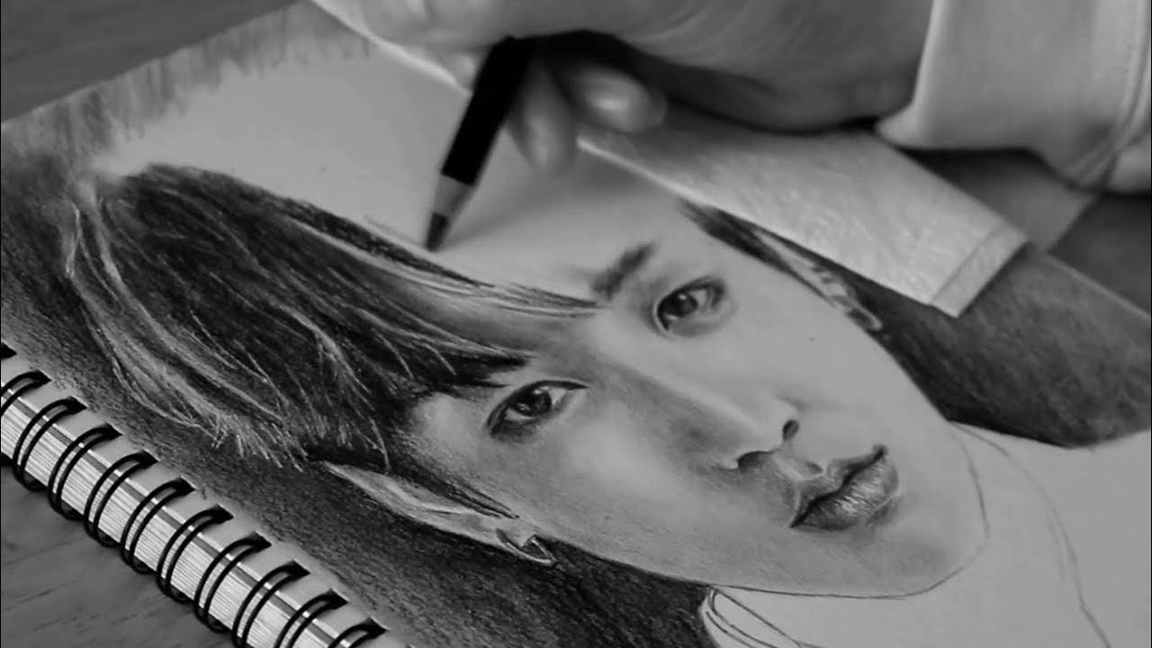 Jungkook Bts Drawings: DRAWING JEON JUNGKOOK (전정국) FROM BTS (방탄소년단)