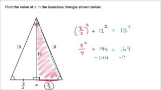 Pythagorean theorem with right triangle