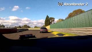 Audi TT RS at Sandown Raceway chasing a GTR