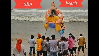ground reality in vinayagar  Idol immersion -marina beach ,chennai