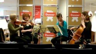'De Bezetting Speelt' Strijkkwartet Mozart (fragment). Donner Rotterdam 2016-03-25