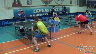 Цыганков Егор и Толкушкин Василий. Турнир по настольному теннису Гагарин 9-11 апреля