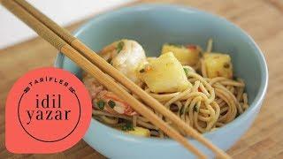 Karidesli Ananaslı Noodle Tarifi - Yemek Tarifleri - İdil Tatari