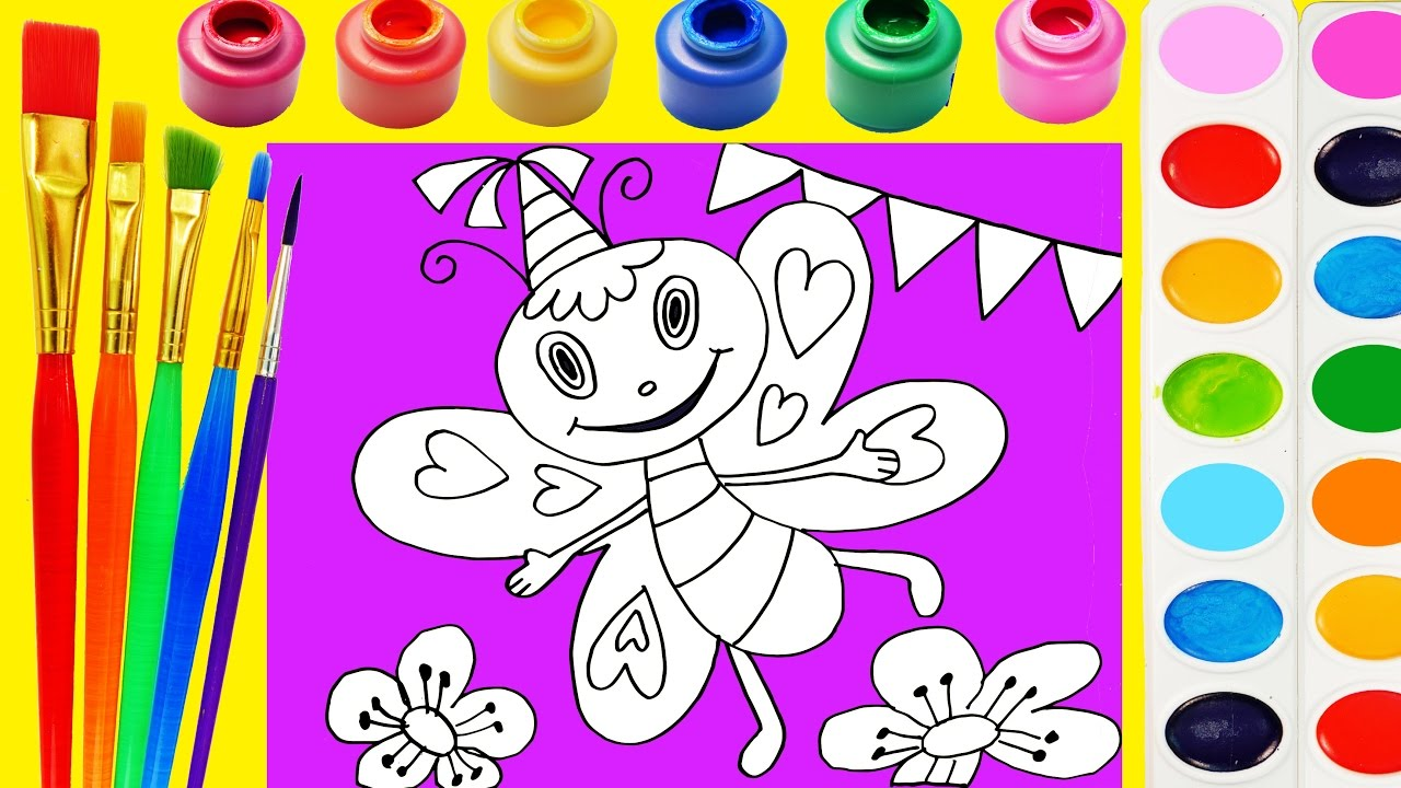 Valentine day butterfly coloring pages - Coloring Page Of Valentines Day Hearts Butterfly To Color With Watercolor For Kids To Learn Color