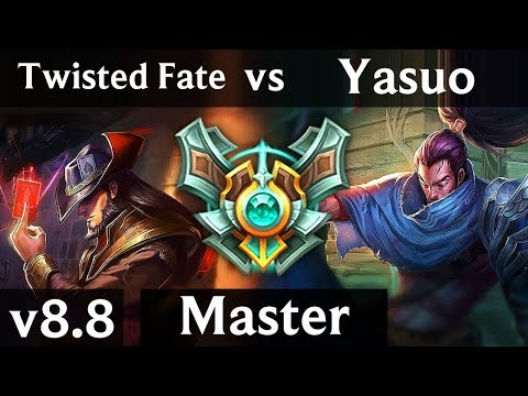 Lars (yasuo) VS RIOT Scarlet (twisted fate) Gameplay