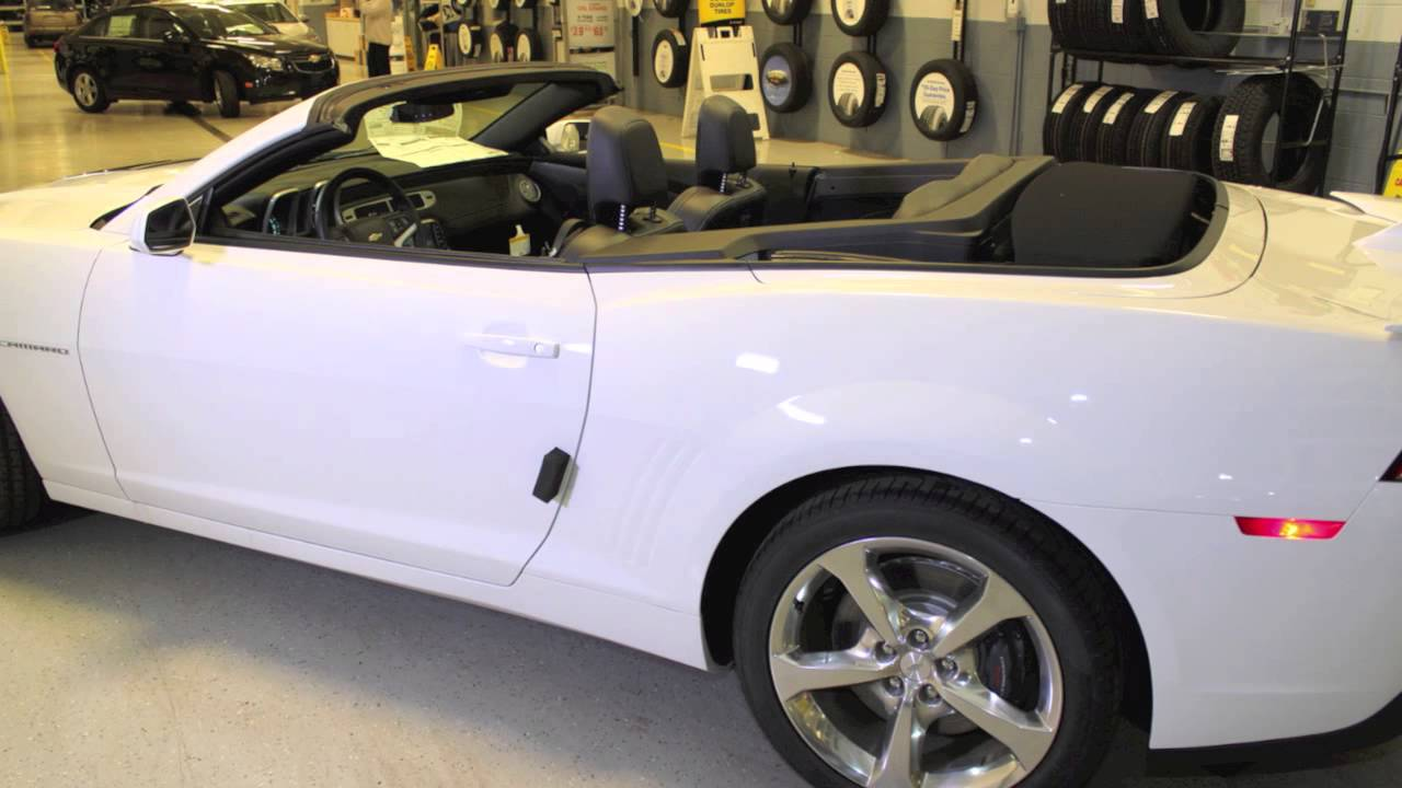 2014 White Camaro SS Convertible For Sale YouTube