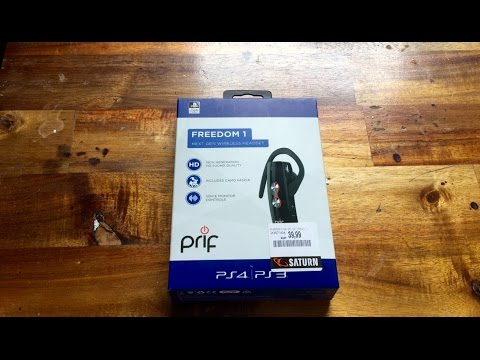 PS4 - Prif Freedom 1 Wireless Headset Unboxing