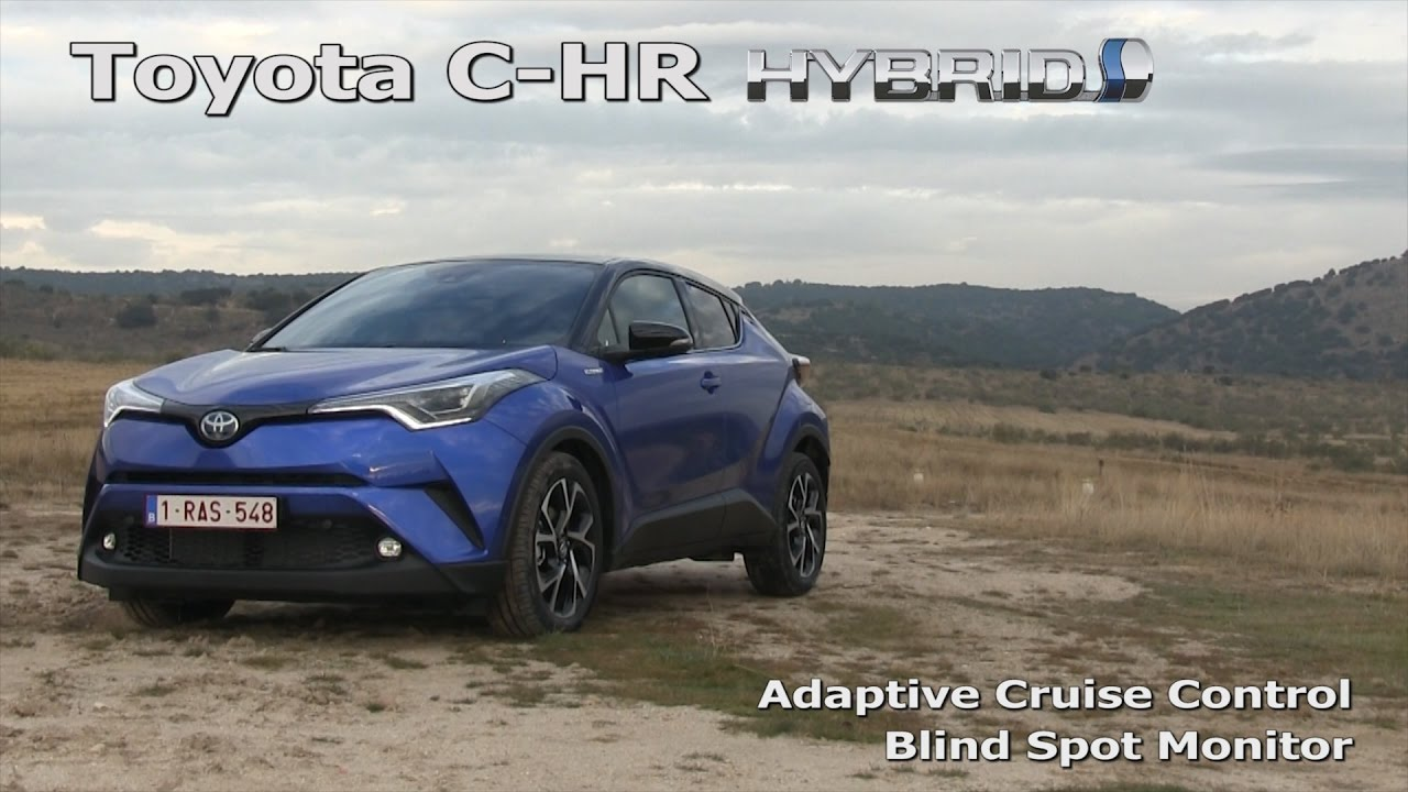 toyota c-hr: adaptive cruise control in a traffic jam and blind