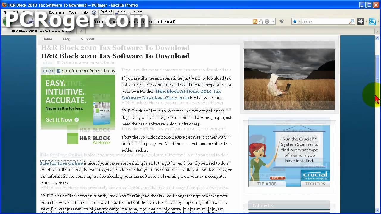 H&r Block 2011 Tax Software Download