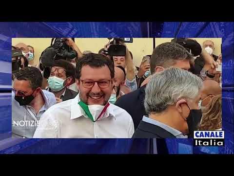 Roma, 2 Giugno 2020. Matteo Salvini e Giorgia Meloni in Piazza del Popolo
