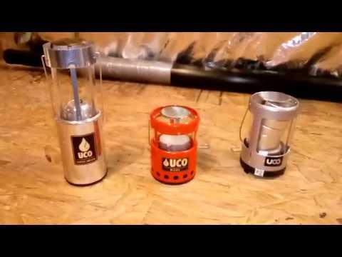 UCO mini micro and original candle lantern.