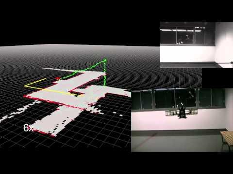 Autonomous Multi-Floor Indoor Navigation with a Computationally Constrained  MAV