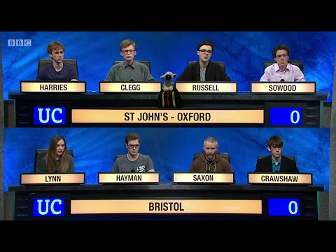 University Challenge S45E14 - St John's College, Oxford, vs  University of Bristol.