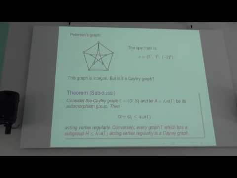 "Anton Betten - Plenary talk ""Graphs with Integral Spectrum"""