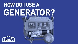 How Do I Use A Generator? | DIY Basics